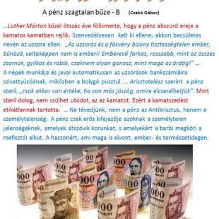 A pénz szagtalan bűze - B