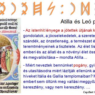 Atilla és Leó pápa